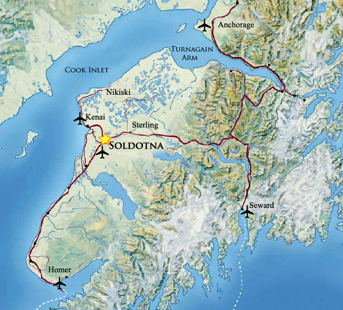 Soldotna on the Kenai Peninsula